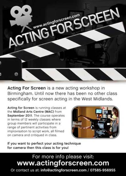 Acting For Screen Eflyer